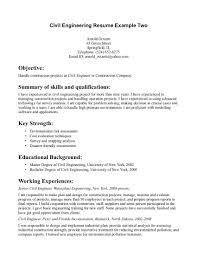 Civil Engineering Career Info Civil Engineering Career Resume