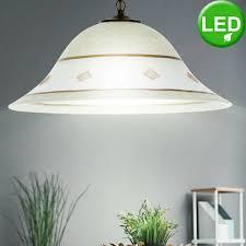 Zimmer Farbig Antik Lampe Hänge Glas Beleuchtung Wohn
