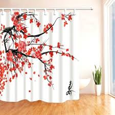 cherry blossom bathroom japan pink shower curtain polyester marble cherry blossom bathroom various red shower curtain small