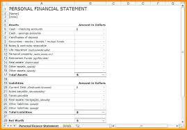 8 Financial Statement Template Personal Net Worth Free – Stiropor Idea