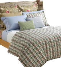 ralph lauren boathouse madras plaid 10pc king duvet comforter cover beach style duvet