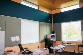 Small Picture classroom with fabric wrapped tackable acoustical wall panels