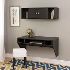 Gorgeous Floating Wall Desk Wall Mounted Floating Computer Desk And Hutch W  Storage New Ebay