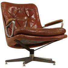 wonderful modern office lounge chairs 4 furniture. For Sale On - Leather Lounge Chair Swivel Attributed To Strassle. Wonderful Comfort And Beautiful Aged Modern Office Chairs 4 Furniture E