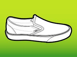 vans shoes drawing. vans shoes clipart drawing