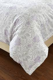 5pc lavender grey fl duvet cover set style 1027 cherry hill collection