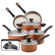 Non Stick Kitchen Appliances T Fal 14 Piece Soft Handles Non Stick Cookware Set Walmartcom