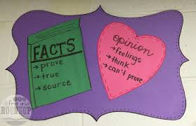 Fact Vs Opinion Anchor Chart Fact Or Opinion Firstgraderoundup