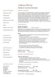 Sample Medical Assistant Resume   www resumesformater com happytom co