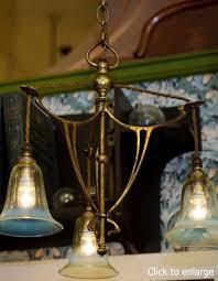 portfolio chandeliers art nouveau 3 light fitting the meadows lamp gallery edinburgh