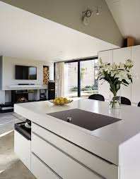 Corian Designer White Thickness The Striking 130mm Thick Kitchen Worksurfaces Create A
