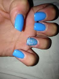Blue Square Acrylic Nails Google Search Square Acrylic