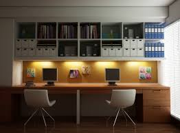 sleek office furniture. White Wooden Floating Shelves With Maple Desk And Sleek Modern Chairs For Simple Home Office Ideas Furniture