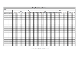 hourly checklist template printable daily medication schedule detailed