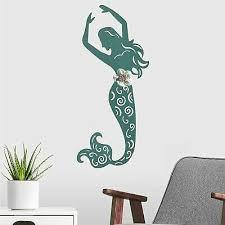 metal mermaid wall art blue hanging