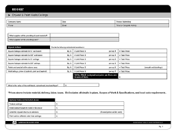Sample Bid Proposal Template Drywall Bid Proposal Template Williamson Ga Us