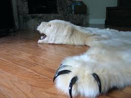 white bear rug white bear rug fake white bear skin rug white bear fur rug white