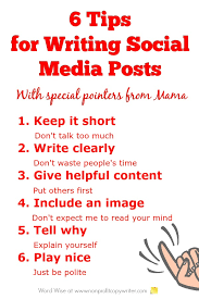 quick tips for writing social media posts that get read