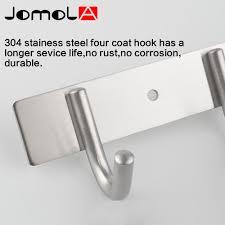 Stainless Steel Coat Hooks Kitchen Towel Hanger Bathroom Accessories Wall  Mount Robe Holder Bath Hardware JOMOLA-in Robe Hooks from Home Improvement  on ...