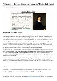 premiumessays net philosophy sample essay on descartes method of doubt philosophy sample essay on descartes method of doubt premiumessays net