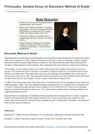 premiumessays net philosophy sample essay on descartes method of doubt philosophy sample essay on descartes method of doubt premiumessays net