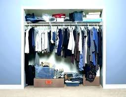 deep narrow closet organization ideas s