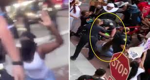 Florida Cop Violently Shoves Protester Into Pavement Who Was Kneeling, Had  Her Hands Up