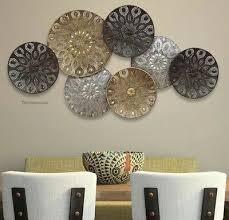 large wall decor metal circles abstract