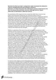 king richard essay year hsc english advanced thinkswap year 12 hsc band 6 module a richard iii essay