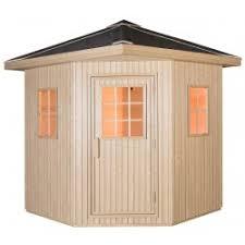 Delightful Sauna Extérieur Bardage Composite DOME 3 4 Places   Poêle SAWO 8000W   SNÖ