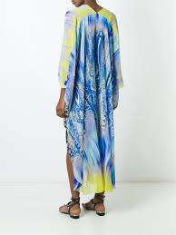 Etro Kaftan Mit Wickeleffekt Damen Kleidung Kaftane Sarongs Etro