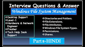 Interview Questions For Help Desk Interview Questions Answer For Desktop Support Level1 Hardware Engineer Fresher Part 8 Hindi
