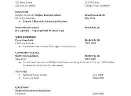 Resume For College Student Sample Of A Student Resume College