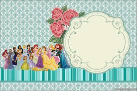 all disney princess printable invitations is it for printable invitation card or photo frame
