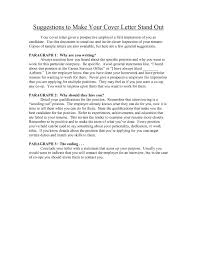 17 Wonderful Make Your Cover Letter Stand Out Resume How Do You To