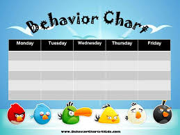 Good Behavior Chart For 10 Year Old Free Printable Behavior Charts Customize Online