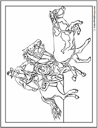 You can easily print or download them at your convenience. Cowboy Horse Coloring Page