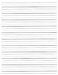 Printable Kindergarten Paper With Lines Download Them Or Print