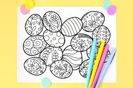 Coloring is a perfect activity you can do with your kids and these easter egg coloring pages are just right material for doing that. Free Printable Easter Coloring Page Hey Let S Make Stuff