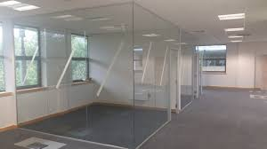 office partitions with doors. Frameless Glass Partition Complete With Framed Timber Doors. \u0027 Office Partitions Doors R