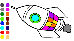 Spaceship Coloring Games L Coloring Book Learn Colors For Children