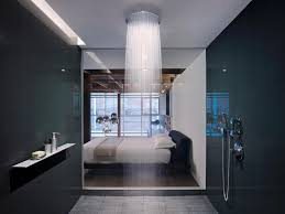 ceiling rain shower head with lights