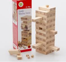 How To Play Tumbling Tower Wooden Block Game Baby Tumbling Tower Toys Jenga Board Team Game Toy Wood Building 18