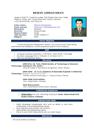 Free Download Resume Templates Free Sample Latest Resume Format In