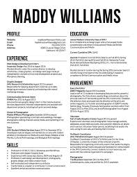 Resume Of Maddy Williams Web Design Development