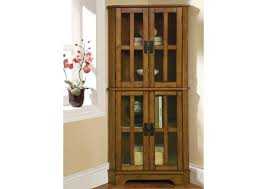 Brothers Fine Furniture Warm Brown Curio Cabinet