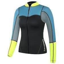 Lemorecn Wetsuits Size Chart Lemorecn Womens 2mm Neoprene Long Sleeve Jacket Front Zipper Wetsuit Top 2094g1 Ebay