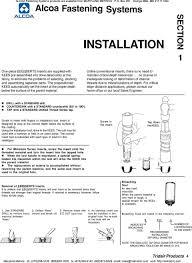 Standard Keensert Chart 75 Systematic Keensert Installation Chart