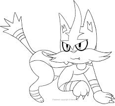 Disegno Di Torracat Dei Pokemon Da Colorare Con Immagini Pokemon Da