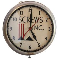machine age advertising wall clock s